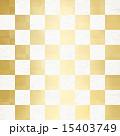 市松模様 金箔 和のイラスト 15403749