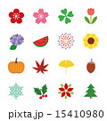 四季 ベクター 春夏秋冬のイラスト 15410980
