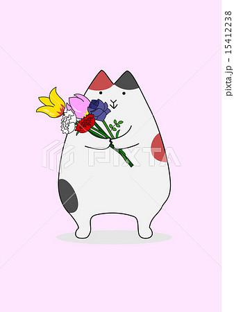 花束を持つ猫 15412238