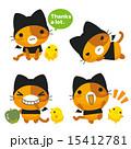 ネコとーく ベクター ひよこのイラスト 15412781