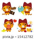 ネコとーく ベクター 赤ずきんのイラスト 15412782