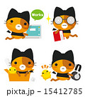 ベクター ネコとーく ネコのイラスト 15412785