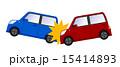 赤い車と青い車事故 15414893