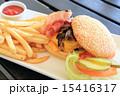 チーズバーガー バンズ パンの写真 15416317