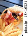 チーズバーガー バンズ パンの写真 15416321