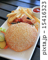 チーズバーガー バンズ パンの写真 15416323