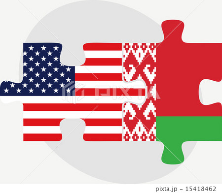 USA and Belarus Flags in puzzleのイラスト素材 [15418462] - PIXTA