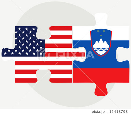 USA and Slovenia Flags in puzzleのイラスト素材 [15418798] - PIXTA