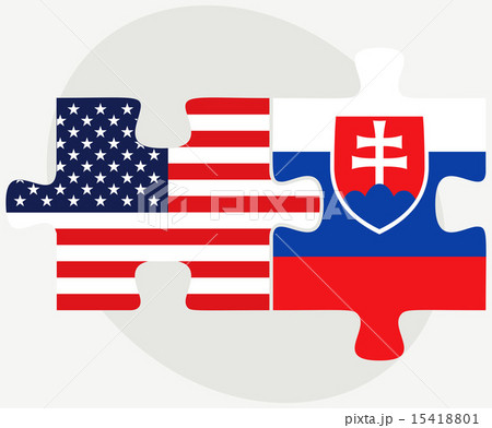 USA and Slovakia Flags in puzzleのイラスト素材 [15418801] - PIXTA