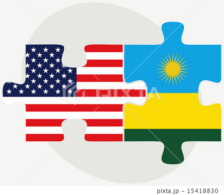 USA and Rwanda Flags in puzzleのイラスト素材 [15418830] - PIXTA