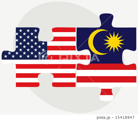 USA and Malaysia Flags in puzzleのイラスト素材 [15418947] - PIXTA