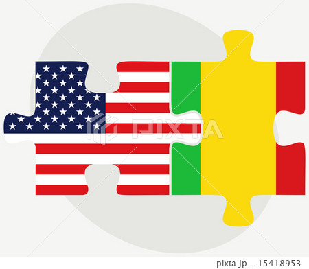 USA and Mali Flags in puzzleのイラスト素材 [15418953] - PIXTA
