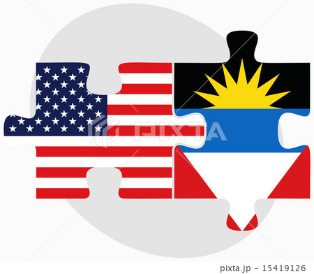 USA and Antigua and Barbuda Flags in puzzleのイラスト素材 [15419126] - PIXTA
