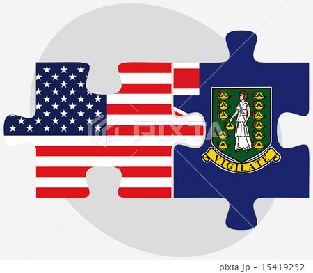 USA and British Virgin Islands Flags in puzzleのイラスト素材 [15419252] - PIXTA