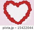 フレーム ハートマーク 花のイラスト 15422044