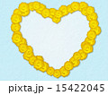 ハートマーク フレーム 花のイラスト 15422045