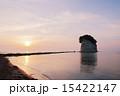 朝日 見附島 日の出の写真 15422147