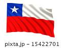 チリ共和国 はためく チリのイラスト 15422701