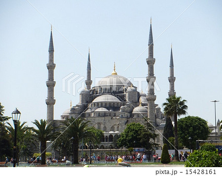 ブルーモスク(Blue mosque,Istanblu,Turkey)の写真素材 [15428161] - PIXTA