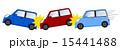 追突 衝突事故 玉突き事故のイラスト 15441488