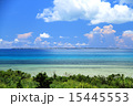 沖縄 小浜島から黒島を望む 15445553