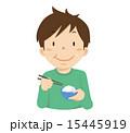 ベクター 子供 食べるのイラスト 15445919