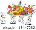 料理を運ぶコックさん 15447232