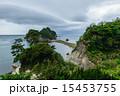 トンボロ現象 三四郎島 伊豆の写真 15453755