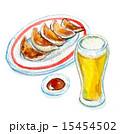 生ビール 餃子 ビールのイラスト 15454502