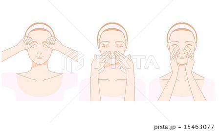 顔、鼻すじのセルフマッサージ 15463077
