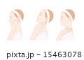 首、耳をセルフマッサージする女性 15463078