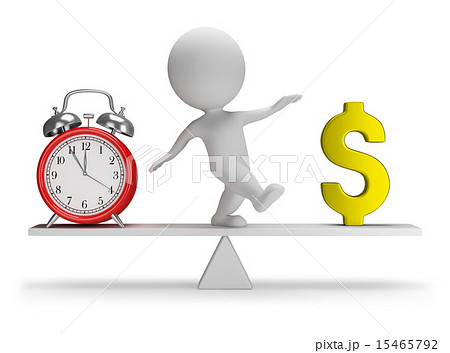 3d small people - time is money 15465792