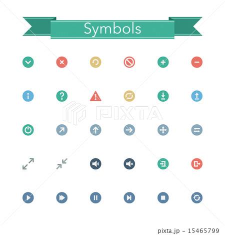 Symbols Flat Icons 15465799