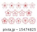 和桜素材赤 15474825
