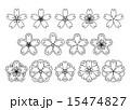 和桜素材黒 15474827
