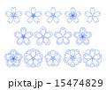 和桜素材青 15474829