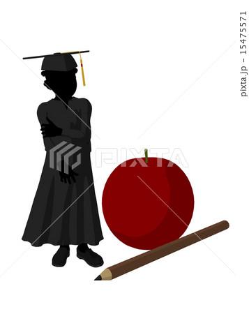 African American School Girl Silhouette Illustration 15475571