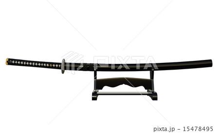 日本刀のイラスト素材 15478495 Pixta