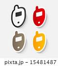 携帯電話 紙 ペーパーのイラスト 15481487