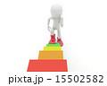 上る 3DCG ステップアップのイラスト 15502582
