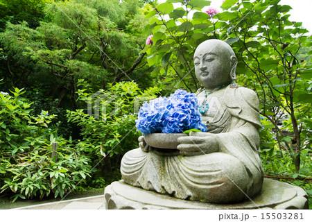 花想い地蔵 鎌倉明月院 15503281