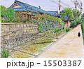用水路 城下町 萩市のイラスト 15503387