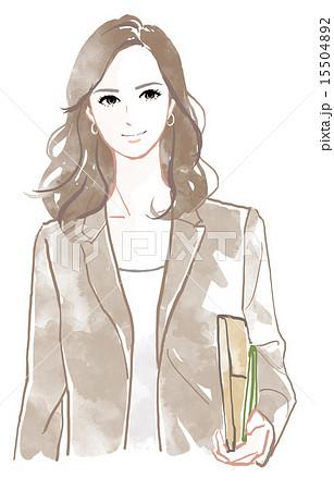 働く女性のイメージのイラスト素材 15504892 Pixta