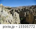 ラパス 月の谷 岩山の写真 15505772