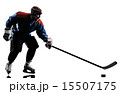 Ice hockey man player silhouette 15507175