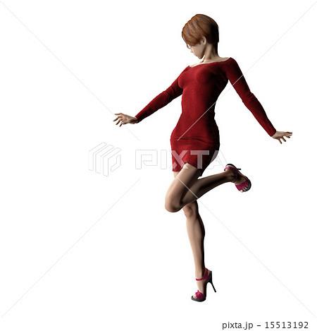 perming ウォーキングするモデル体型の女性 15513192