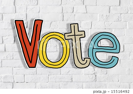 The Word Vote on a Brick Wall 15516492
