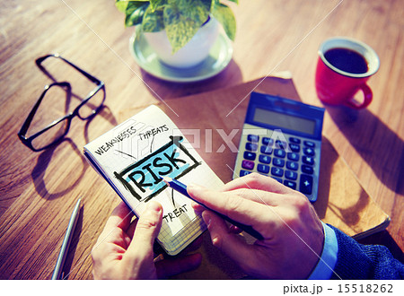 Business Risk Weakness Investment Office Working Conceptの写真素材 [15518262] - PIXTA