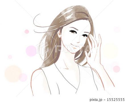 髪の美しい女性のイラスト素材 15525555 Pixta