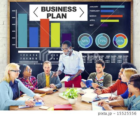 business plan graph brainstorming strategy idea info conceptの写真